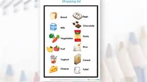 Get the kids to find and tick off items on the shopping list