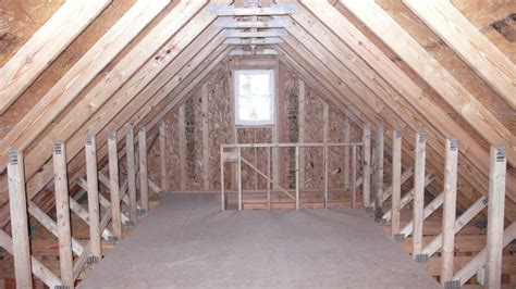 Room In Attic Truss by Garage Stairway To Attic On This St Paul Garage We Used