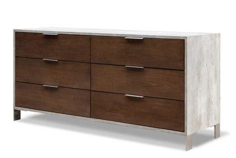 domus modern walnut concrete dresser