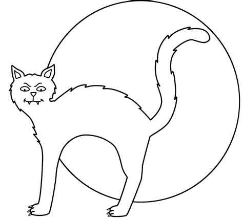 black and white coloring pages of cats black cat coloring page free coloring pages on art