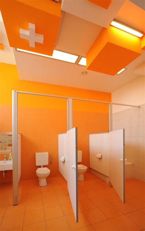 daycare bathroom design colorful refurbishment kindergarten bathrooms architecture pinterest