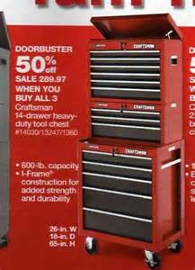 black friday tool box sales craftsman 14 drawer heavy duty tool chest at sears black