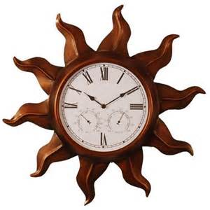 Mexican Home Decor Stores Copper Indoor Outdoor Clock With Temperature And Target