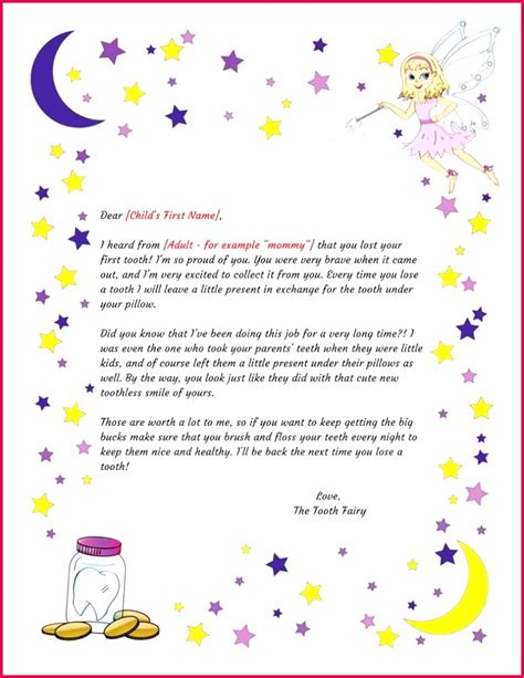 printable tooth fairy certificate template