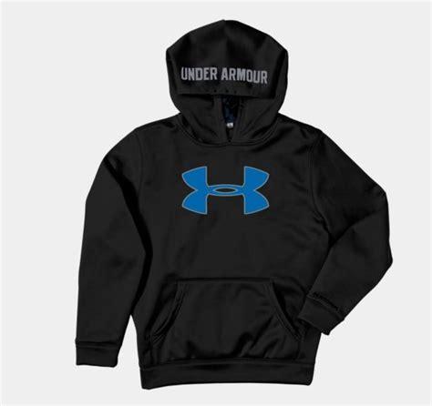 Hoodie Zipper Armour Logo C3 armour logo hoodie sweatshirt youth s m or l black blue grey ua ebay