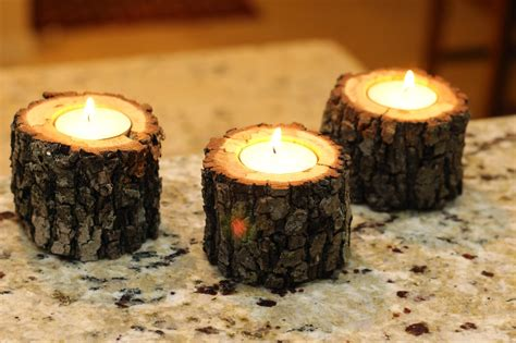 construction paper tree lit with tea light rustic diy projects how to tree branch tea light candle holder