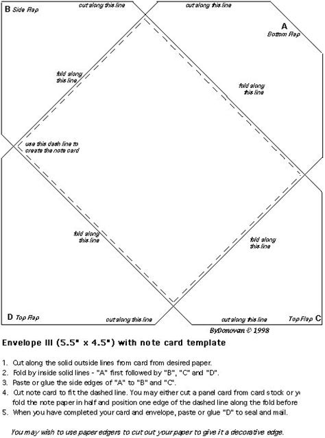make own envelope envelope template craft ideas pinterest search how
