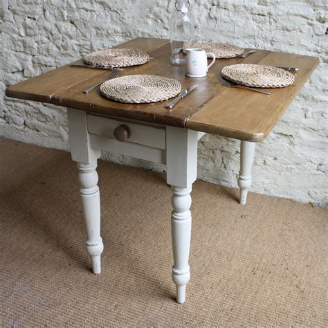 Small Kitchen Drop Leaf Table Drop Leaf Kitchen Table With Legs Painted With White Color For Small Kitchen