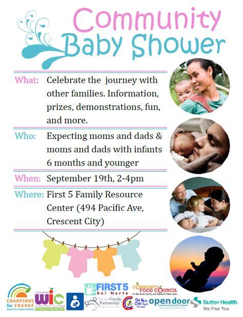 Community Baby Shower by Community Baby Shower Norte Child Care Council