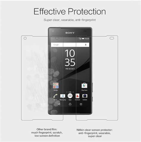 Anti Gores Sony Xperia Z5 Mini Clear nillkin clear anti fingerprint protective for