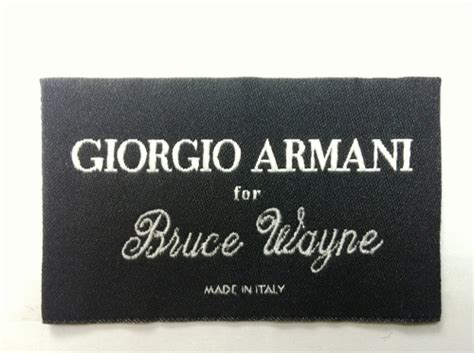 Labels For Armani by Giorgio Armani For Batman The Rises