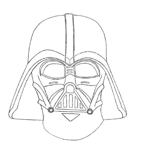darth vader helmet template vader mask outline drawing scetches cars