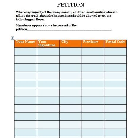 templates for petitions 7 best petition template images on a letter