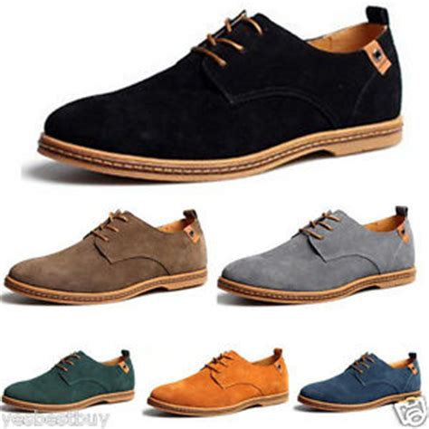 new mens casual dress formal oxfords flats shoes genuine