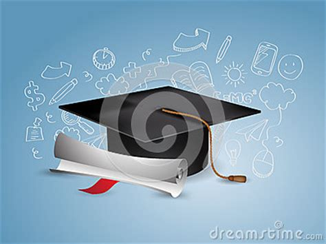 doodle graduation graduation cap with doodles stock vector image 42111279