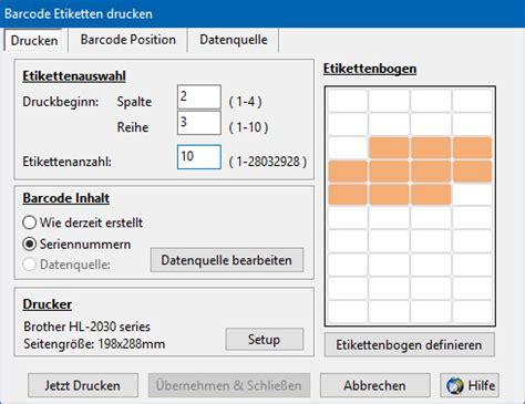 Etiketten Erstellen Mit Barcode by Etiketten Mit Barcodes Drucken Barcode Software