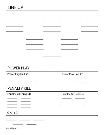 Hockey Coaches Card Template by 22 Images Of Hockey Line Chart Template Geldfritz Net