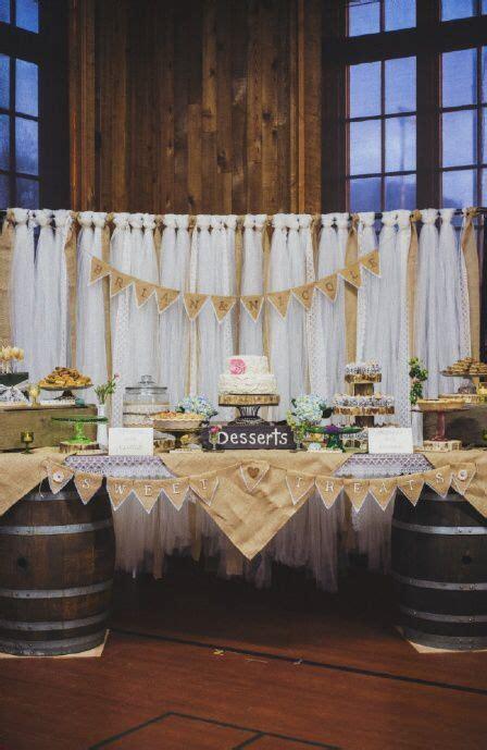 dessert table burlap wedding decorations wedding