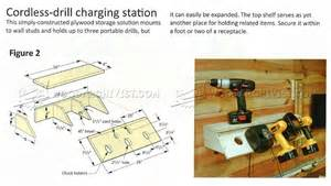 Diy Charging Station Plans cordless drill charging station plans woodarchivist