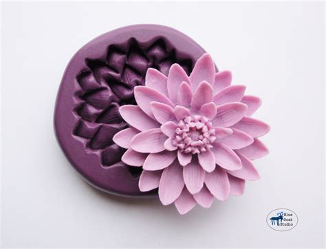 Silicone Mold Flower Water Lotus Flower Mold Mould Silicone Molds Polymer