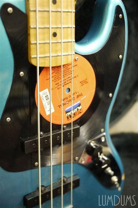 Handmade Bass - custom handmade vintage guitar bass guitar vinyl record by
