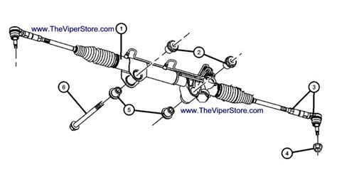 rack and pinion steering diagram ram srt10 2004 2006 factory parts diagrams rack pinion