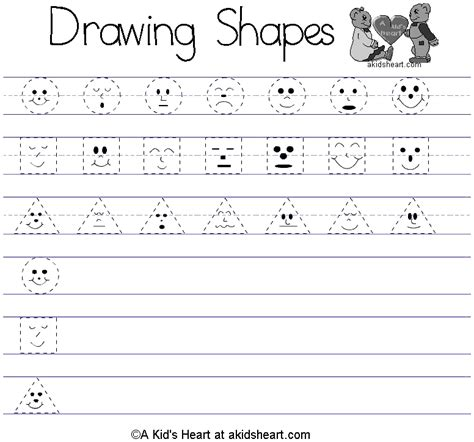 printable art worksheets for preschoolers preschool shape pictures bloguez com