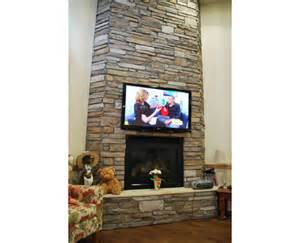 stacked cladding fireplace design from craft