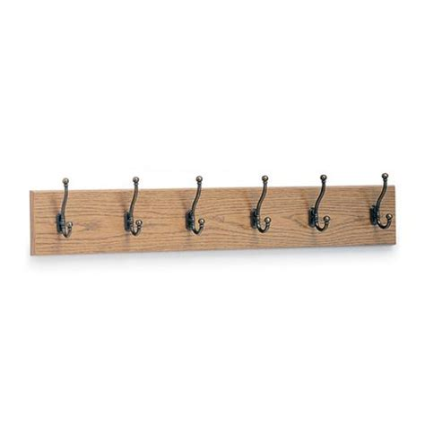 Wall Mounted Coat Hooks With Shelf by Safco 174 Wall Mounted Six Hook Wood Coat Rack