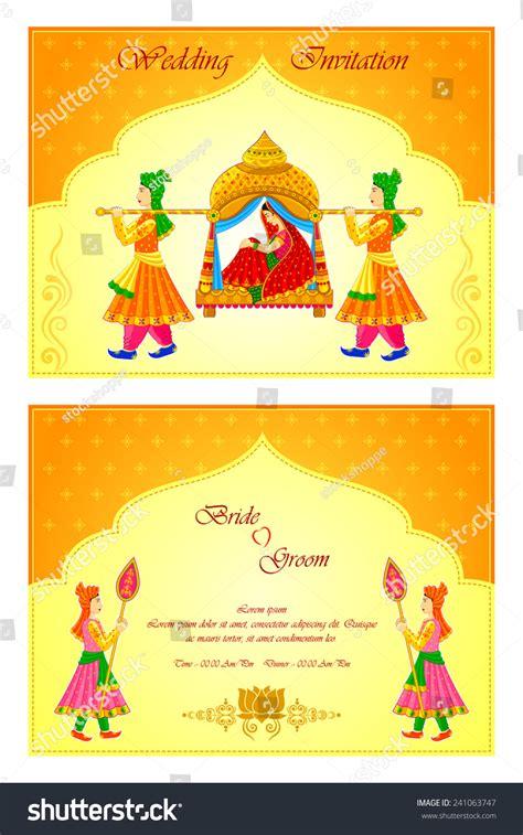 indian wedding invitations website vector illustration indian wedding invitation card stock vector 241063747