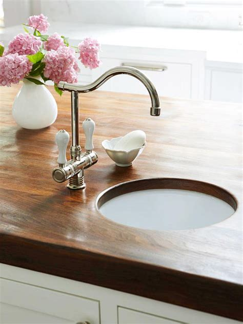 island prep sink traditional kitchen bhg