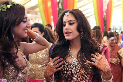 tattoo on roshni s hand yogesh mehta s son rohan has lavish 163 14m wedding in