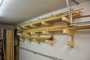 white diy wall mounted lumber rack featuring