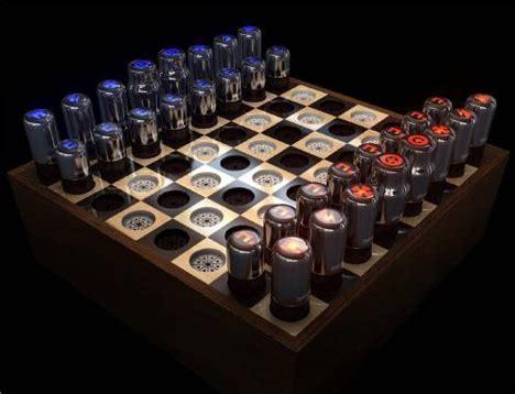 futuristic chess set glowing endorsement retrofuturistic tesla chess set