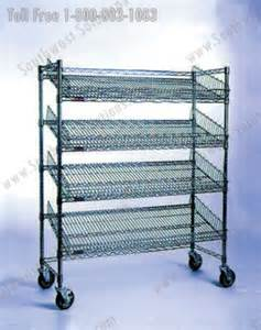 rolling wire carts stainless storage shelving dallas