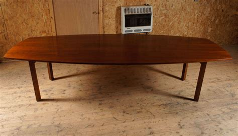 10 foot walnut dining table attibuted to jens risom