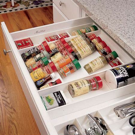 Drawer Spice Storage by In Drawer Spice Rack Organizer
