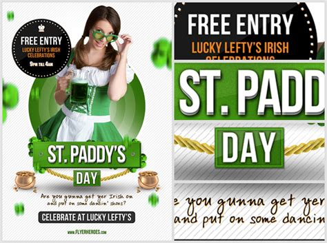 best flyer templates for st patricks day hollymolly