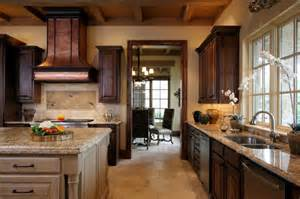Inspired Kitchen Design Tuscan Inspired Kitchen View To Breakfast Room