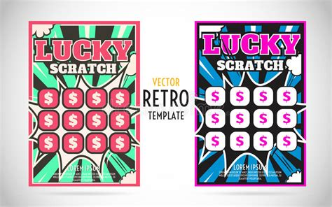 s day scratch card template scratch lottery ticket vector design template stock