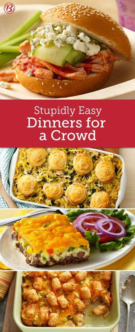 food for a crowd easy party food for a crowd for all your easy dinners for when you have a full house pantry