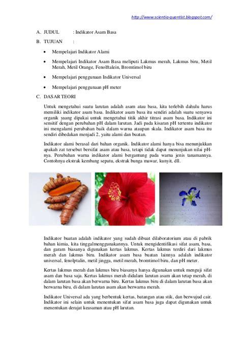 laporan praktikum membuat indikator asam basa laporan praktikum kimia indikator asam basa