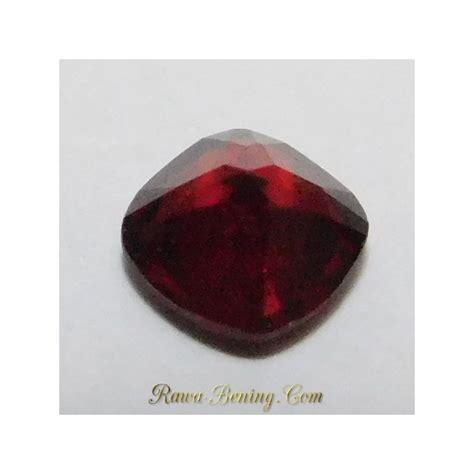 batu permata garnet merah kualitas bagus bentuk kotak 1