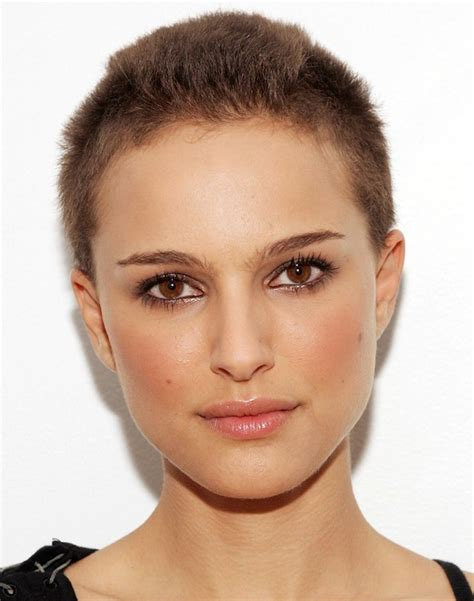 short haircuts with minimum care very short buzz cut for women natalie portman s