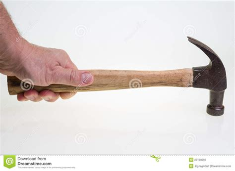 e swing hammer carpenter swinging a hammer on white stock photography image 29150592