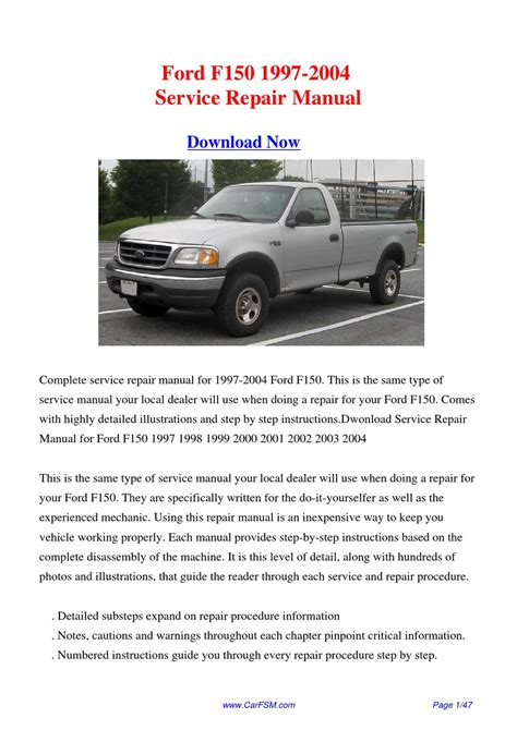 how to download repair manuals 2008 ford f150 spare parts catalogs download 1997 2004 ford f150 service repair manual by gong dang issuu