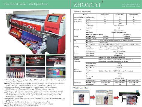 Printer Epson Eco Solvent epson dx5 eco solvent printer w 1800 zy china