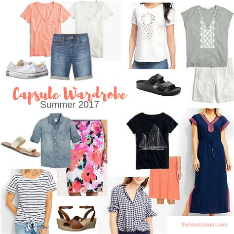 summer capsule wardrobe summer 2017 capsule wardrobe the how to mom
