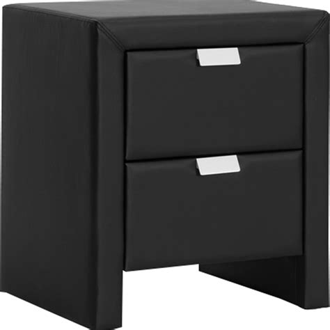 Black Leather Nightstand by Frey Faux Leather Nightstand 2 Drawers Black Dcg Stores
