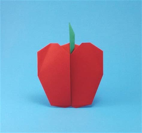 Origami Apple - origami fruit and vegetables gilad s origami page